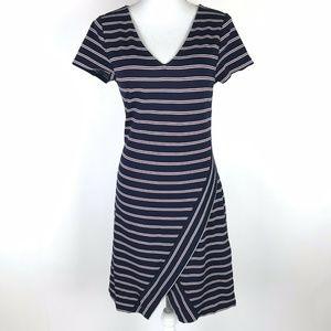Skies Are Blue Tam Dress Navy Blue White Striped